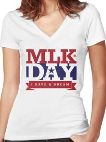 Martin Luther King Jr Day - MLK Day Women's Fitted V-Neck T-Shirt