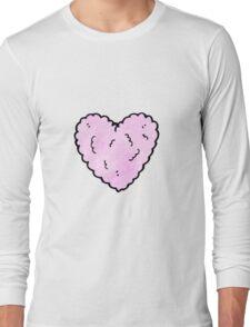 cartoon pink cloud,heart, Long Sleeve T-Shirt