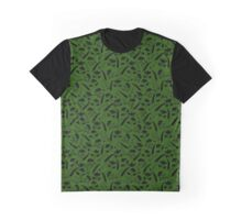 Natural elements silhouettes on green Graphic T-Shirt