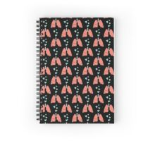 Coral lungs and mint hearts Spiral Notebook
