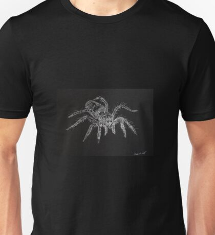 Zebra spider (Salticus scenicus) by Liz H Lovell  Unisex T-Shirt