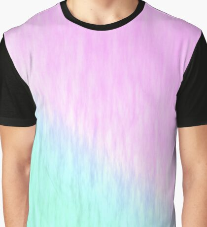 Pink green texture Graphic T-Shirt