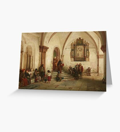Vincent Lerche, called Stoltenberg-Lerche, Monks Feeding the Hungry, Greeting Card