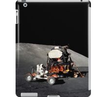 Apollo 17 astronaut makes a short checkout of the Lunar Roving Vehicle. iPad Case/Skin