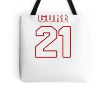 NFL Player Frank Gore twentyone 21 Tote Bag