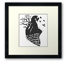 The tale of who must no be named Framed Print