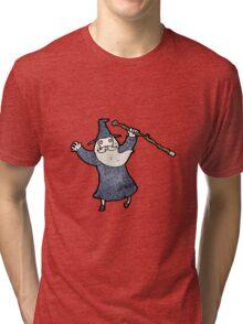 cartoon wizard Tri-blend T-Shirt