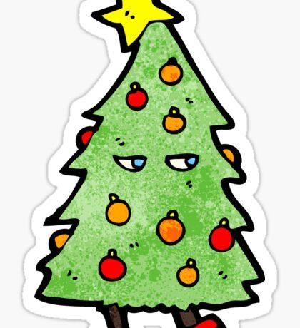 christmas tree cartoon character Sticker