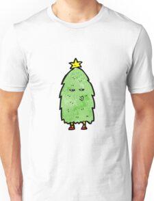 christmas tree cartoon character Unisex T-Shirt