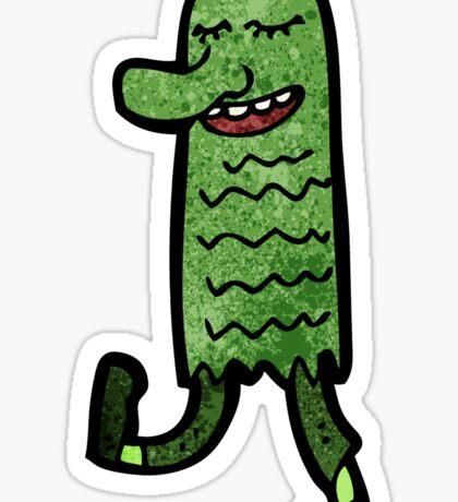 cartoon dancing monster Sticker