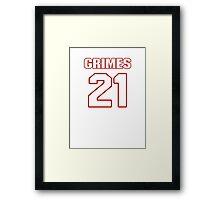 NFL Player Brent Grimes twentyone 21 Framed Print