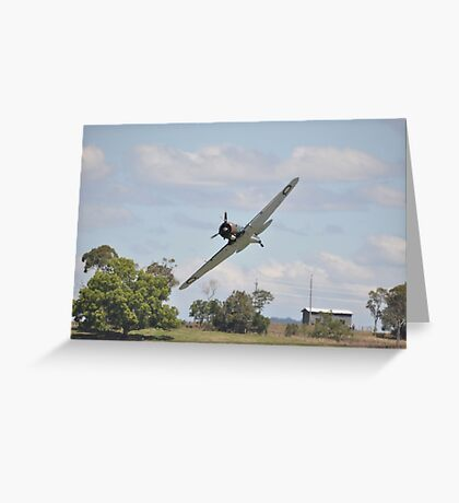 Kempsey Air Show, Australia 2016- Wirraway low level  Greeting Card