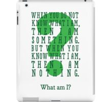 Riddle me this... (tall) iPad Case/Skin