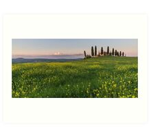 farmhouse pienza Art Print