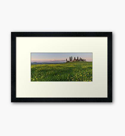farmhouse pienza Framed Print