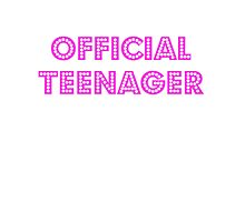 Official Teenager Pink Girl Photographic Print