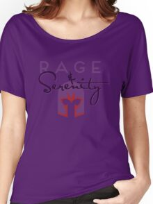 Rage & Serenity (helmet) Women's Relaxed Fit T-Shirt