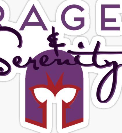 Rage & Serenity (helmet) Sticker