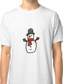 cartoon snowman Classic T-Shirt