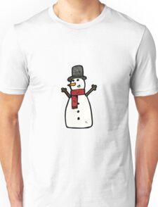 cartoon snowman Unisex T-Shirt