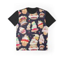 Pattern with the fantastic cakes Graphic T-Shirt