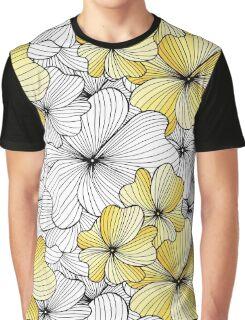 yellow flowers pattern Graphic T-Shirt