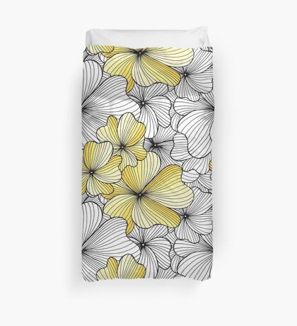 yellow flowers pattern Duvet Cover