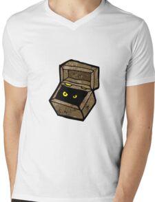 spooky monster in box cartoon Mens V-Neck T-Shirt