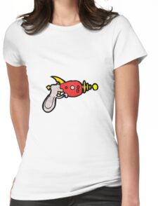 cartoon ray gun Womens Fitted T-Shirt