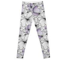 lavander flowers pattern Leggings