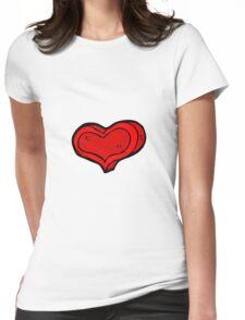 cartoon love heart Womens Fitted T-Shirt