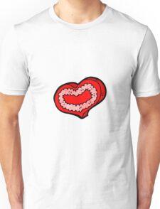 cartoon love heart Unisex T-Shirt