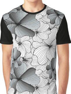gray flowers pattern Graphic T-Shirt