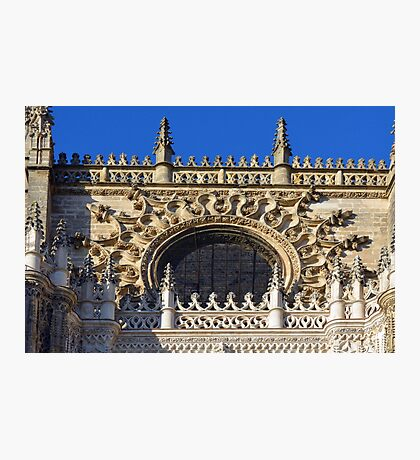 The Cathedral of Saint Mary of the See, Seville Cathedral, in Seville, Andalusia, Spain. Gothic style architecture in Spain. Photographic Print