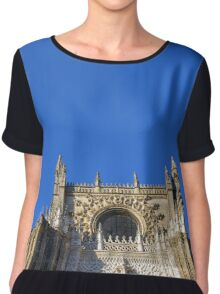 The Cathedral of Saint Mary of the See, Seville Cathedral, in Seville, Andalusia, Spain. Gothic style architecture in Spain. Chiffon Top