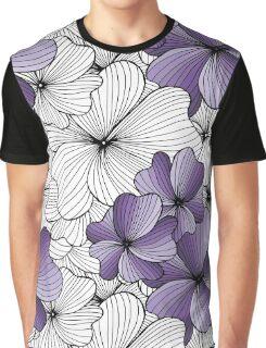 purple flowers pattern Graphic T-Shirt