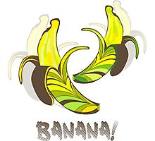 Banana in a retro style Photographic Print