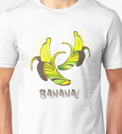 Banana in a retro style Unisex T-Shirt