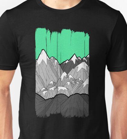 Green sky mounts Unisex T-Shirt
