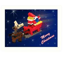 Santa is on His Way! Art Print