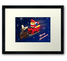 Santa is on His Way! Framed Print