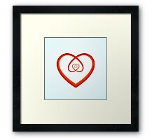 Self-Love Spiral Heart  Framed Print