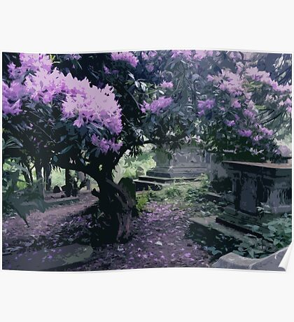 Blossoming Graveyard Poster