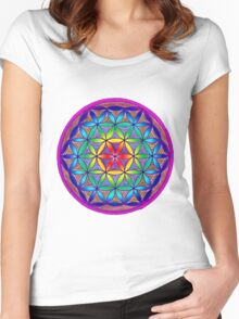 Flower of Life - Trippy Women's Fitted Scoop T-Shirt
