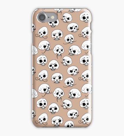 moustached skulls iPhone Case/Skin