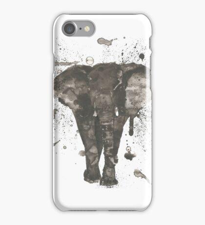 Ink and Brush Elephant iPhone Case/Skin