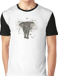 Ink and Brush Elephant Graphic T-Shirt