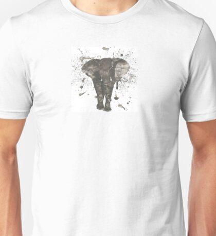Ink and Brush Elephant Unisex T-Shirt