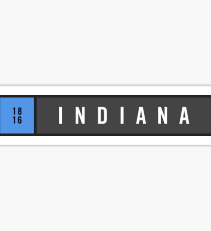 Indiana - Minimalist Sticker