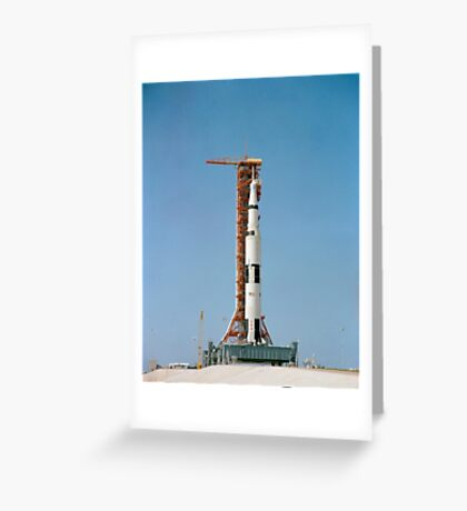 Apollo 10 space vehicle on the launch pad at Kennedy Space Center. Greeting Card